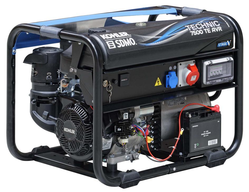Генератор SDMO TECHNIC 7500 TE AVR в Багратионовске